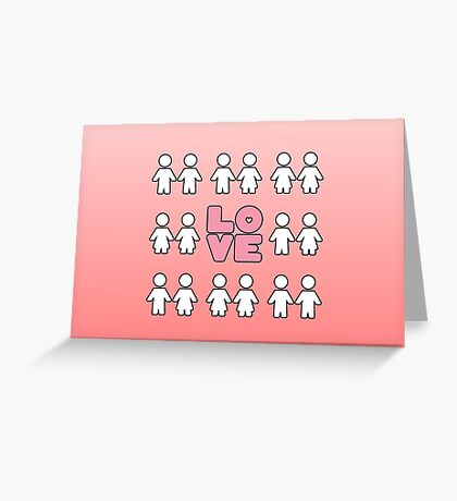 Four Letters - two lof bees Greeting Card