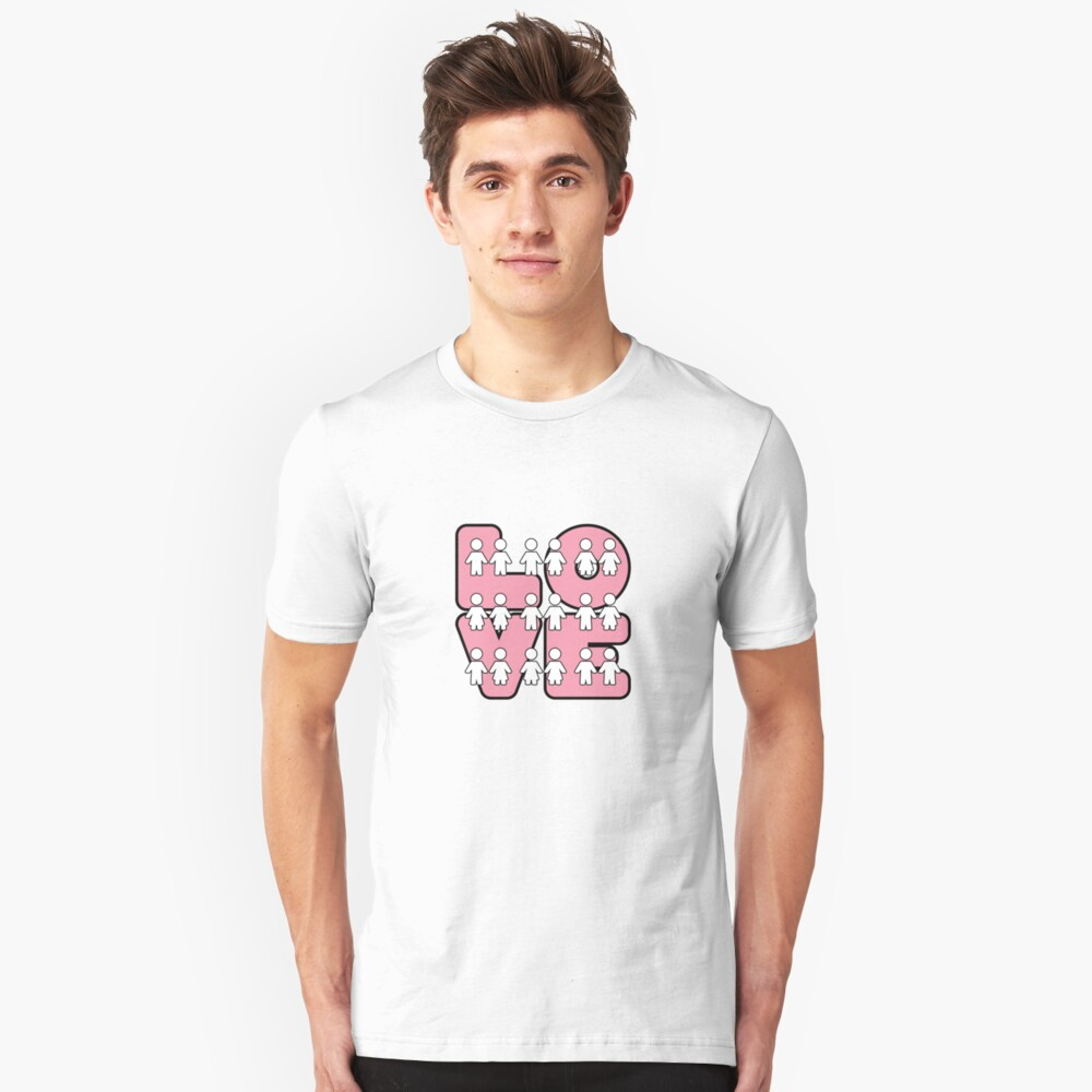 Four Letters (alternate design) - two lof bees Slim Fit T-Shirt