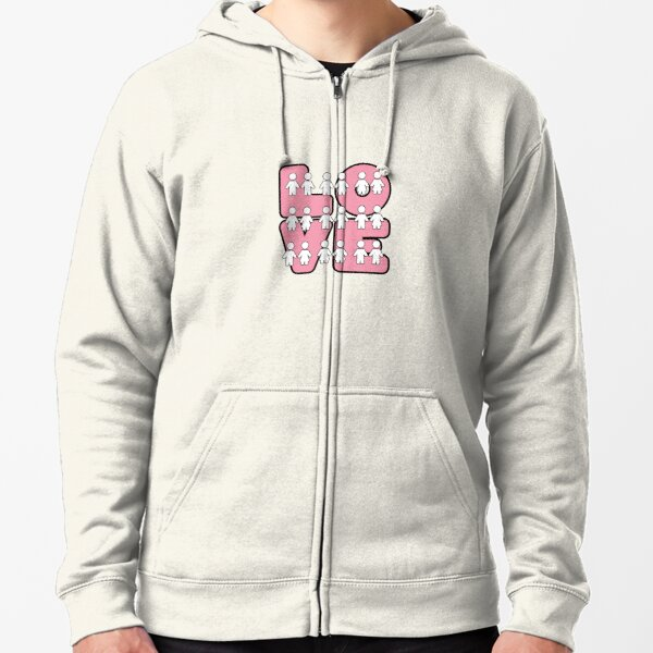 Four Letters (alternate design) - two lof bees Zipped Hoodie