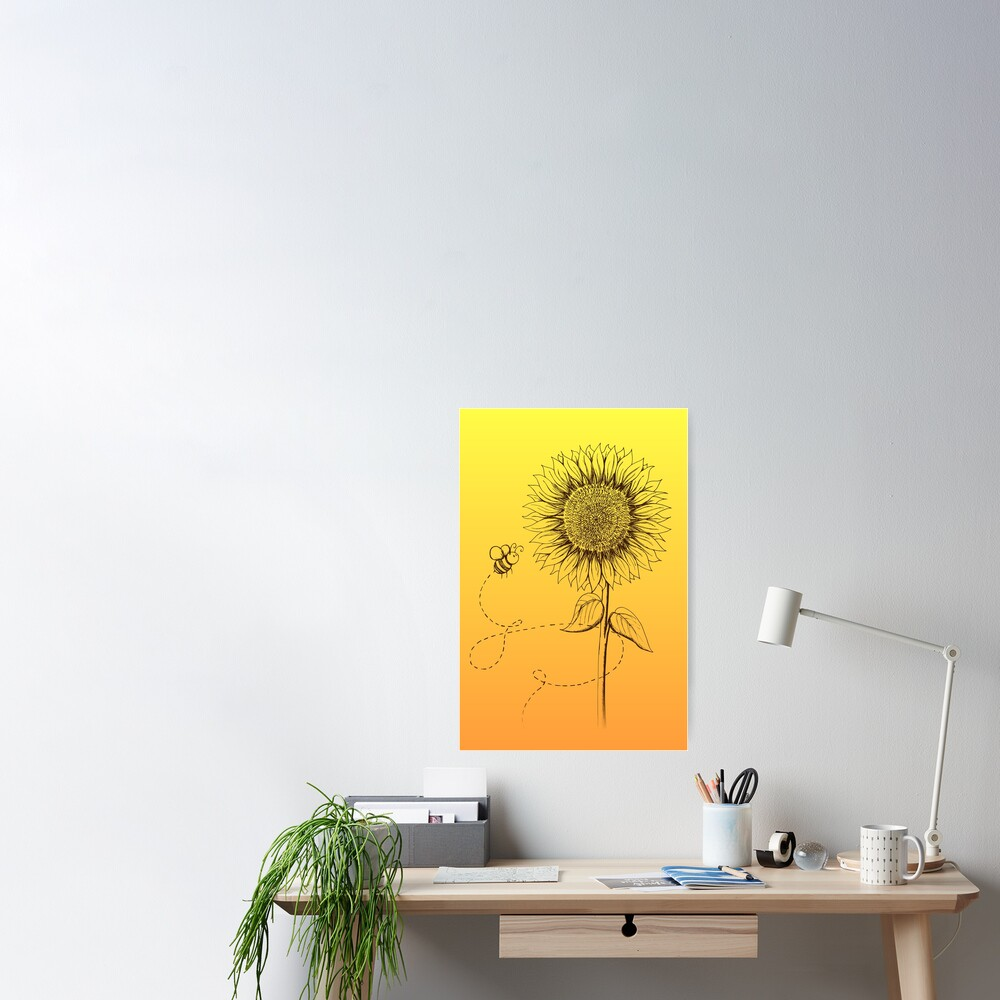 Sunny Bee - two lof bees Poster