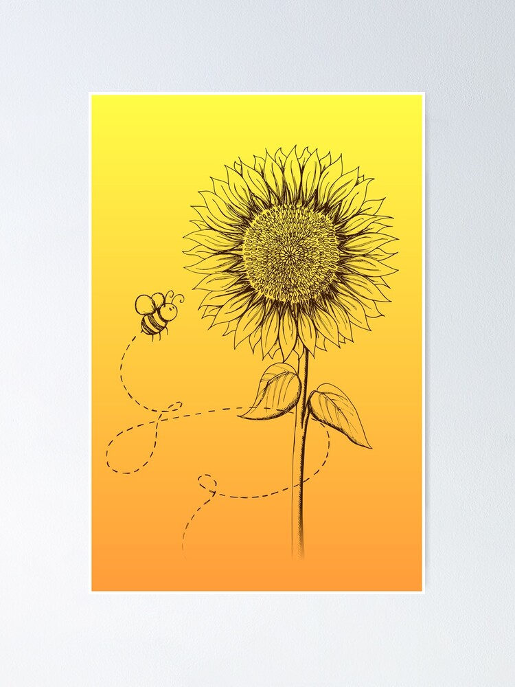 Alternate view of Sunny Bee - two lof bees Poster