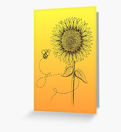 Sunny Bee - two lof bees Greeting Card