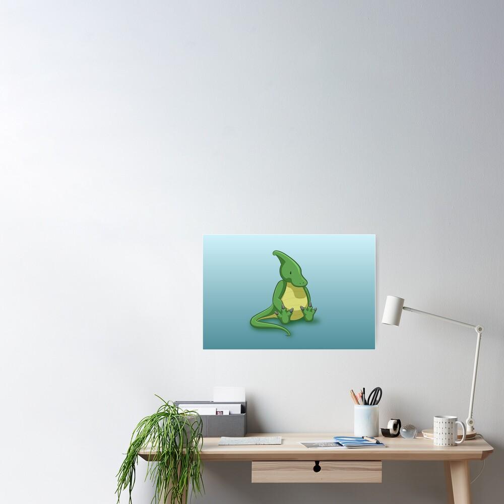 Little Parasaurolophus - two lof bees Poster