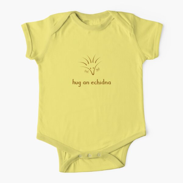 Hug An Echidna - two lof bees Short Sleeve Baby One-Piece
