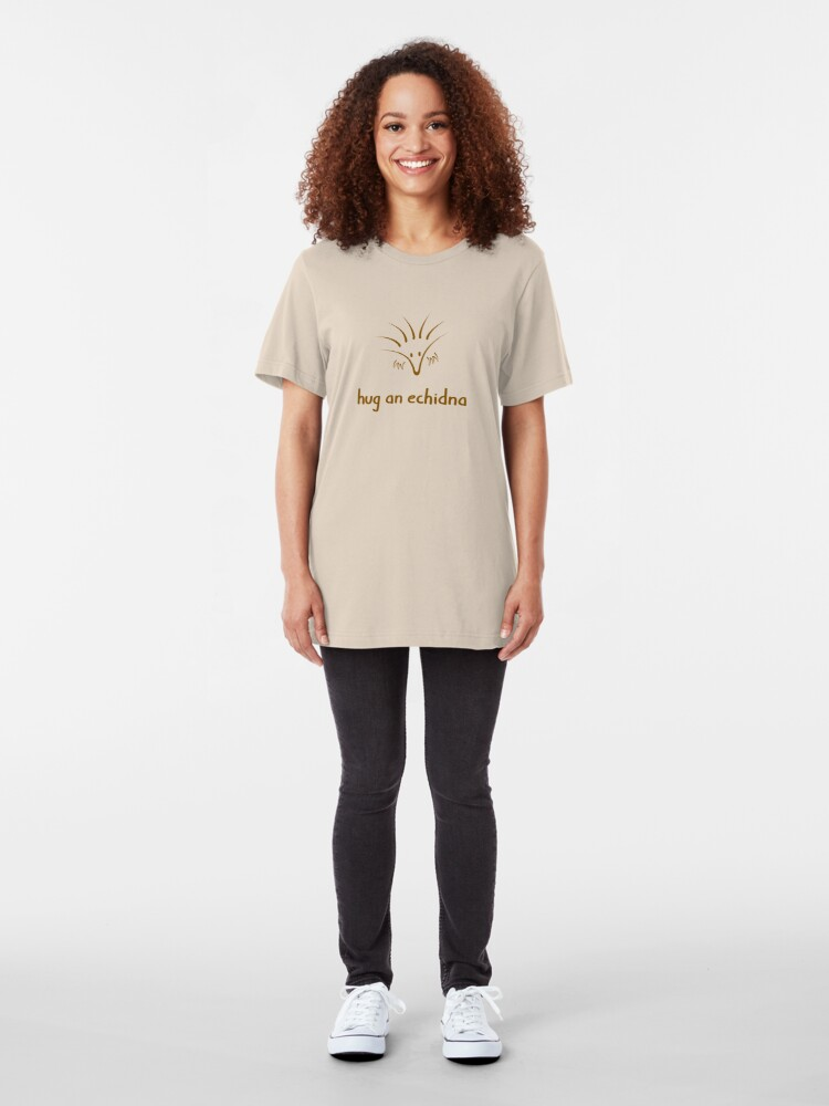 Alternate view of Hug An Echidna - two lof bees Slim Fit T-Shirt