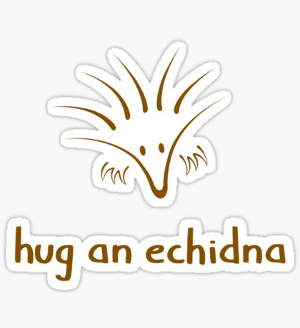 Hug An Echidna - two lof bees Sticker