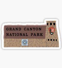 Grand Canyon National Park Sign, Arizona Sticker