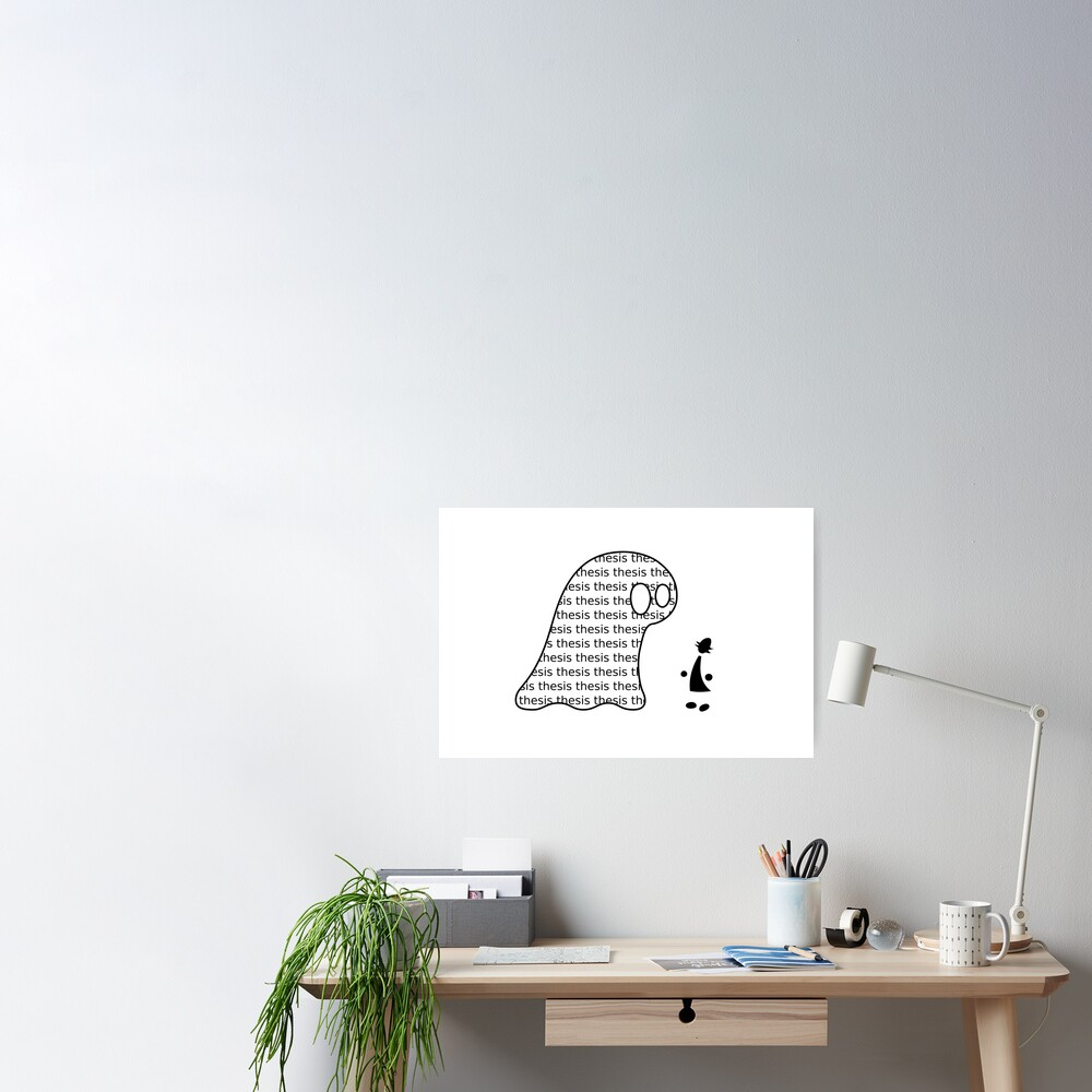 Thesis Monster (black) - two lof bees Poster