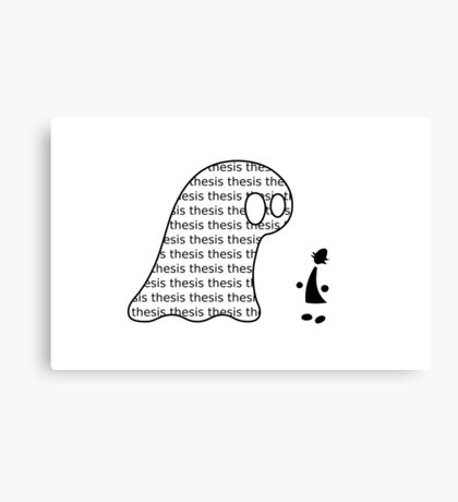 Thesis Monster (black) - two lof bees Canvas Print