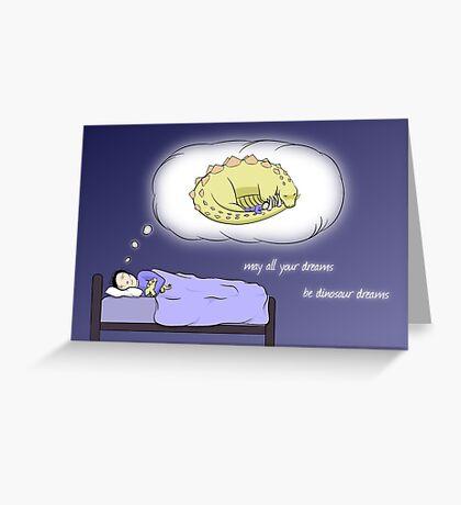 Dinosaur Dreams - two lof bees Greeting Card