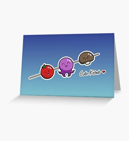 Cute Kebab - two lof bees Greeting Card
