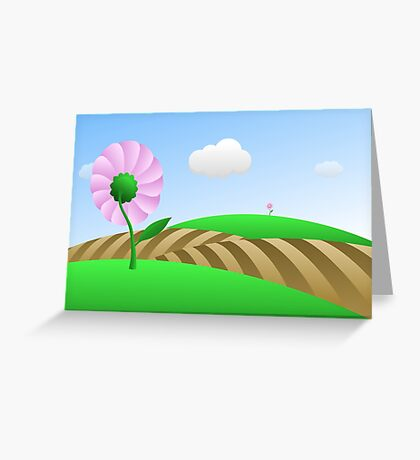 Across The Fields - two lof bees Greeting Card