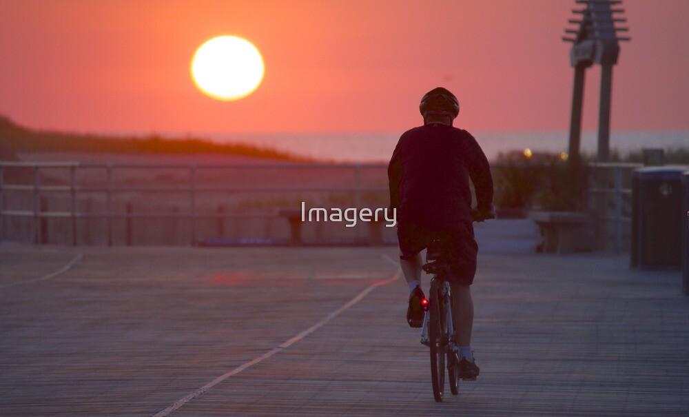 Boardwalk Bike Ride by Imagery