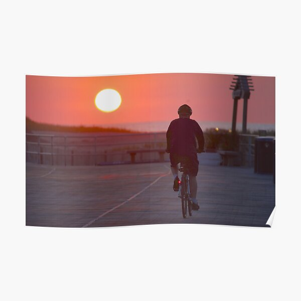 Boardwalk Bike Ride Poster