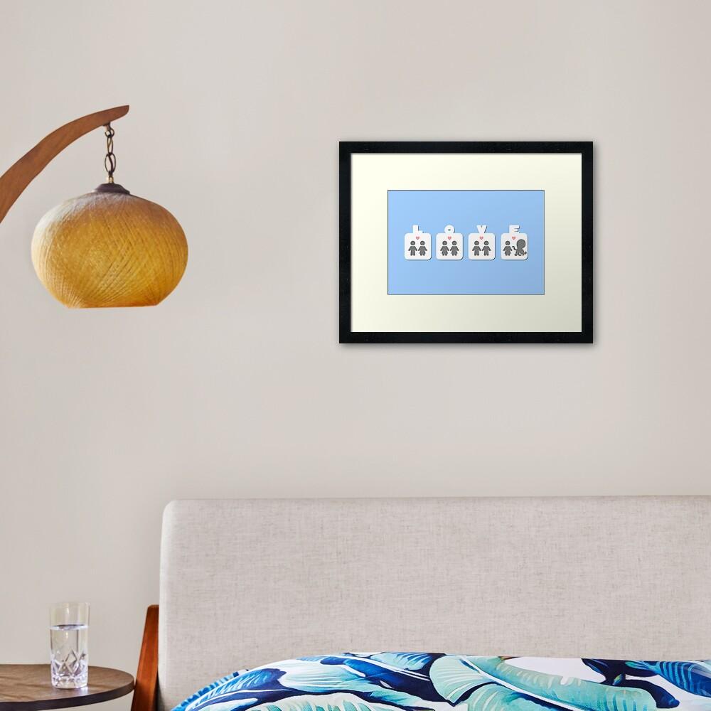 Tentacle Love - two lof bees Framed Art Print