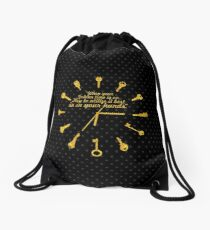 When golden time... Life Inspirational Quote Drawstring Bag