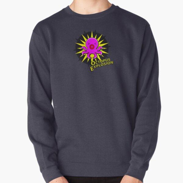 Octopus Explosion - two lof bees Pullover Sweatshirt