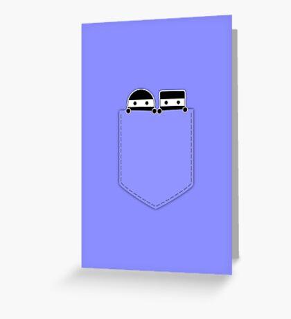 Pocket Ninjas - two lof bees Greeting Card