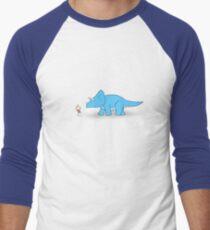 Hello Triceratops Men's Baseball ¾ T-Shirt
