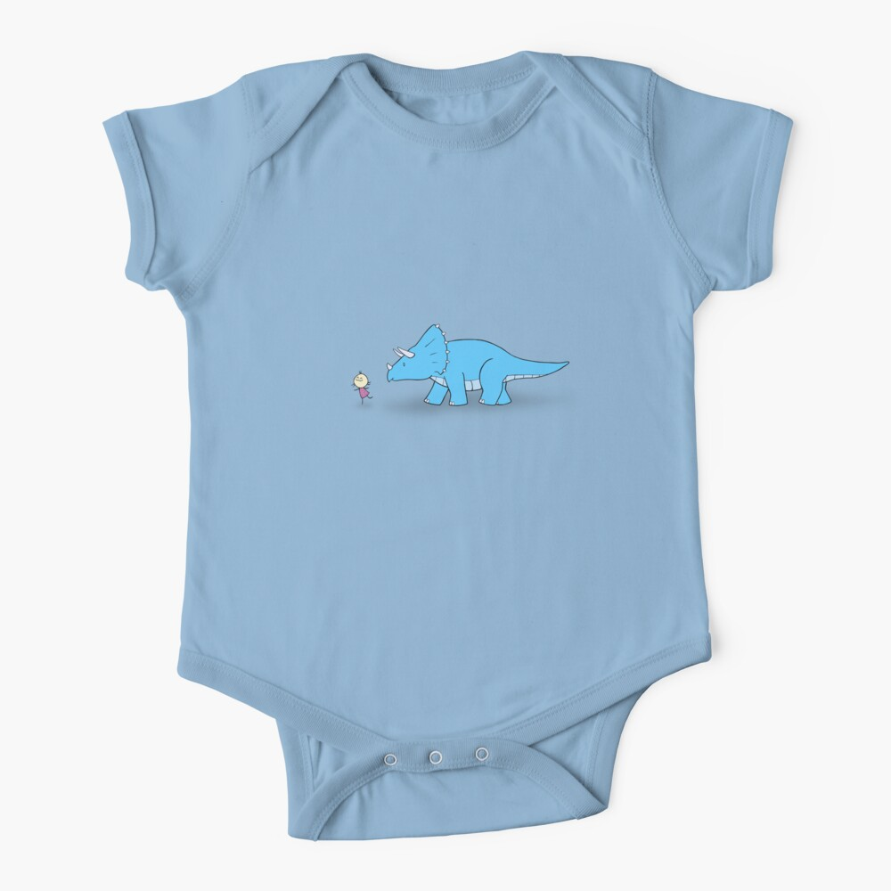 Hello Triceratops Baby One-Piece
