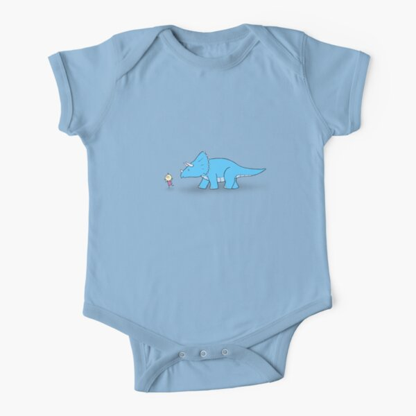 Hello Triceratops Short Sleeve Baby One-Piece