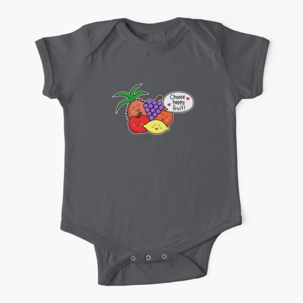 Happy Fruit - two lof bees Short Sleeve Baby One-Piece