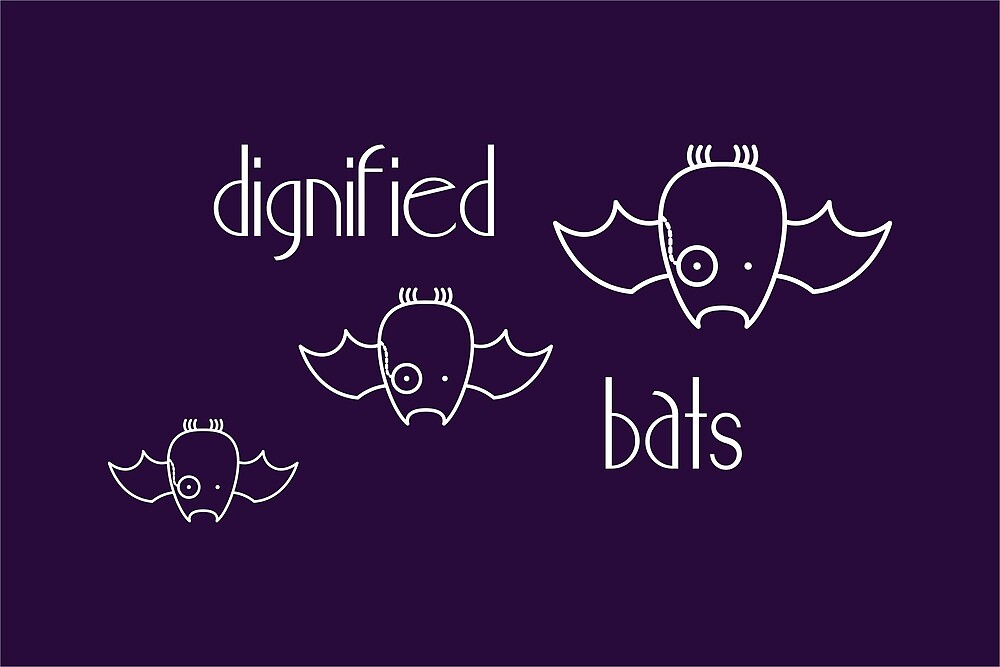 Dignified Bats - two lof bees by Josh Bush