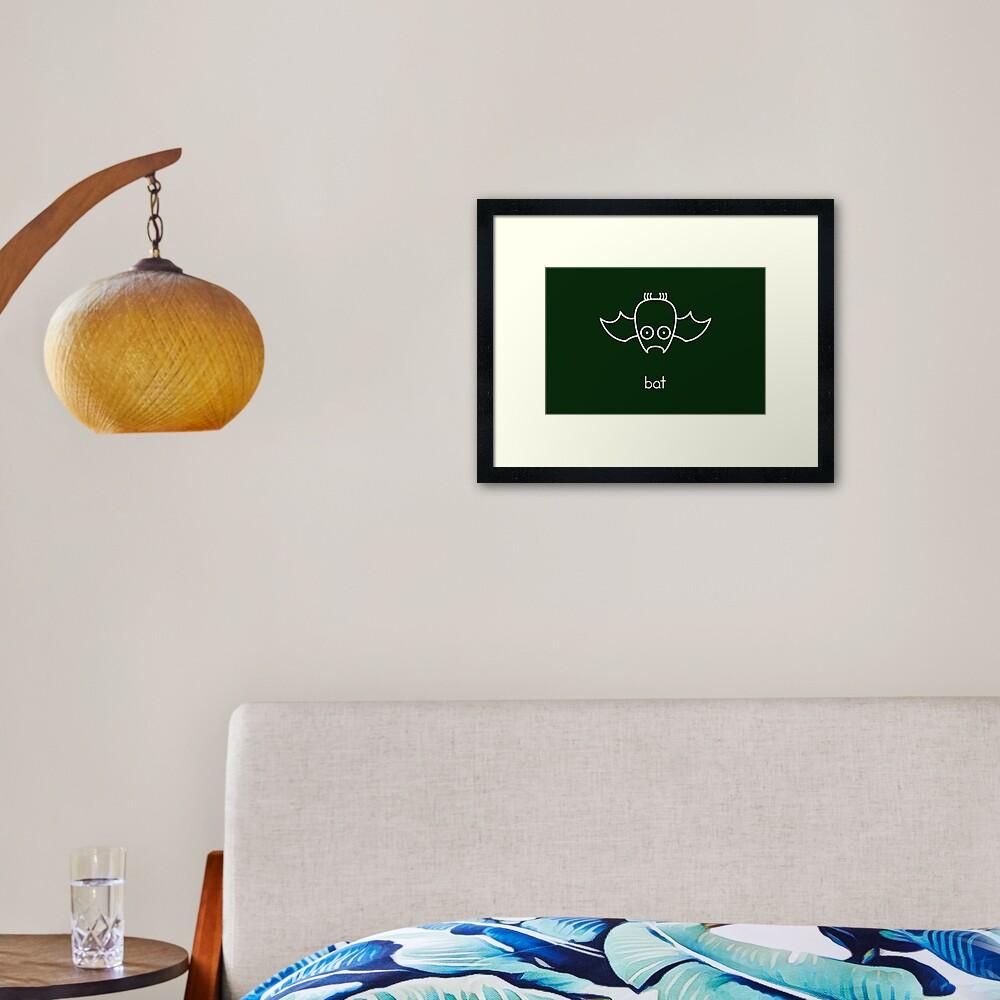 Bat - two lof bees Framed Art Print
