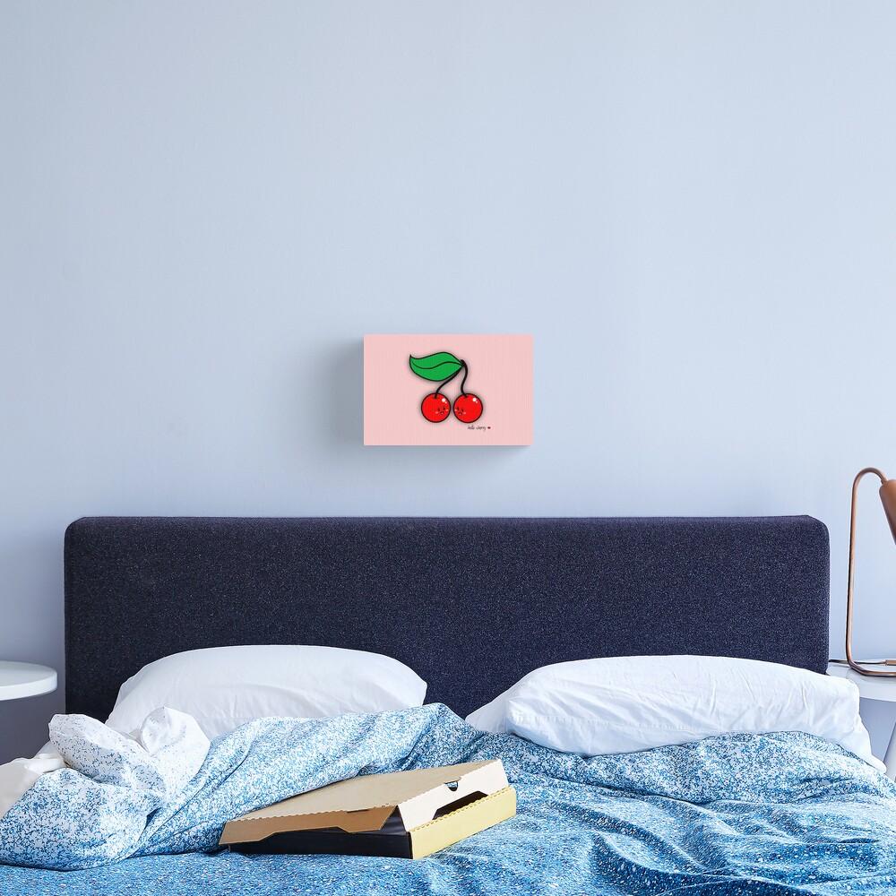 Hello Cherry - two lof bees Canvas Print