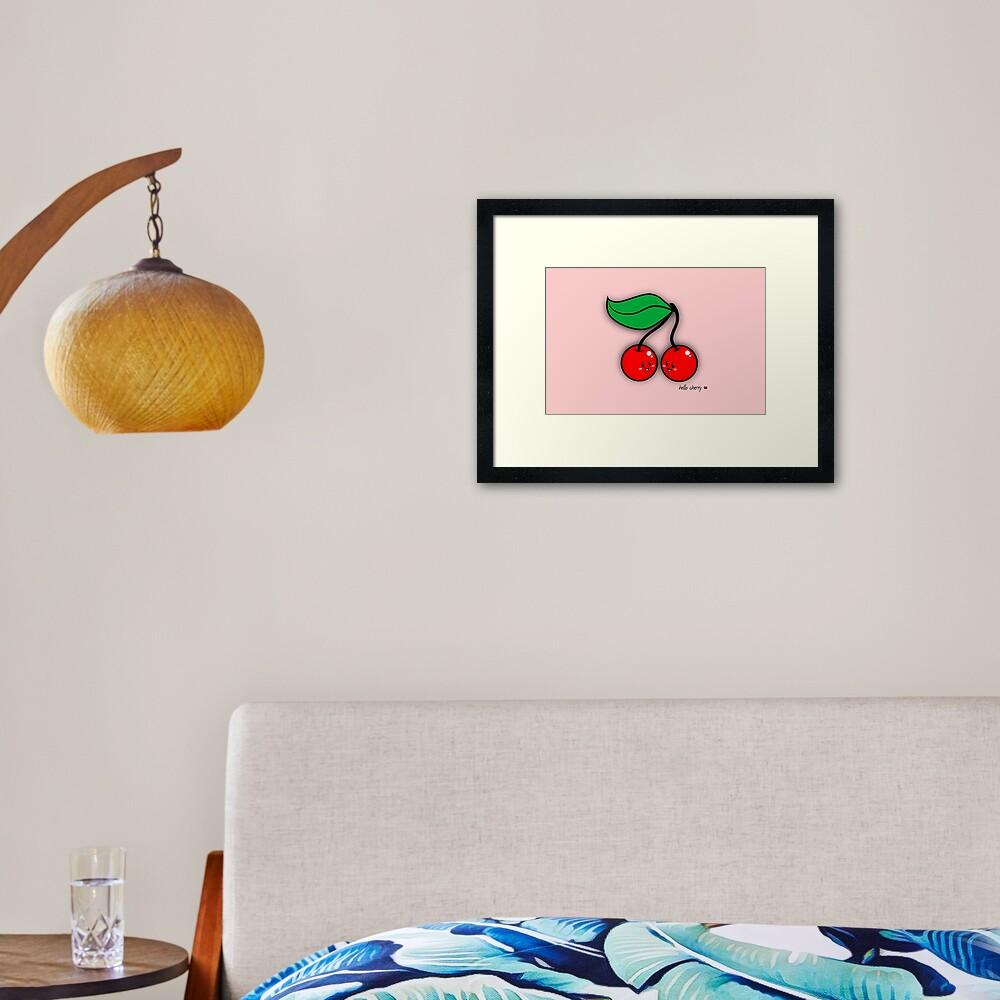 Hello Cherry - two lof bees Framed Art Print