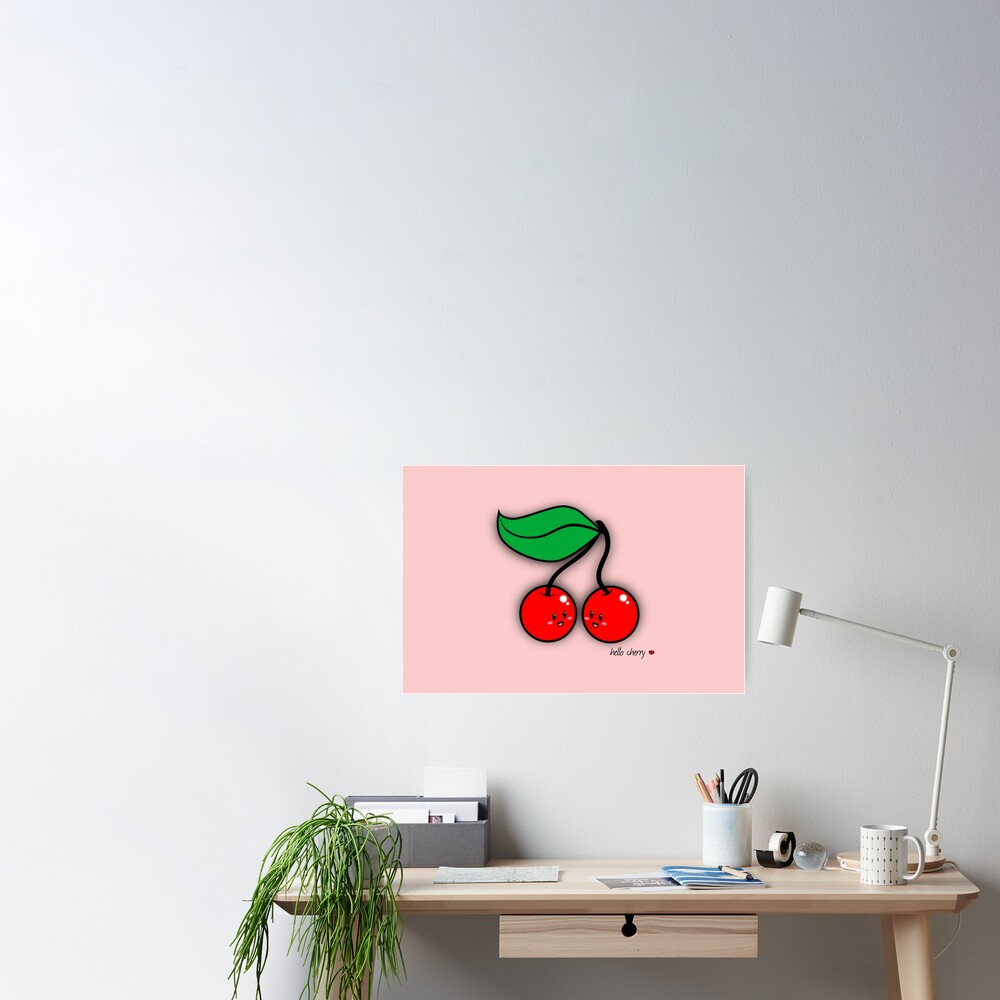 Hello Cherry - two lof bees Poster