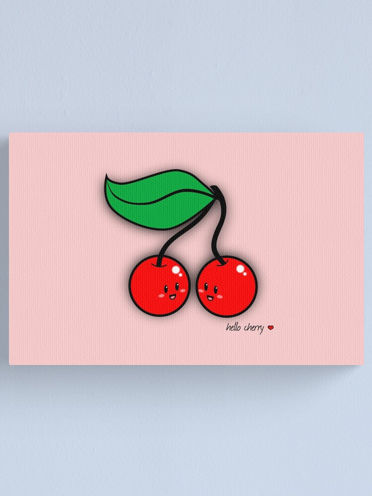 Alternate view of Hello Cherry - two lof bees Canvas Print