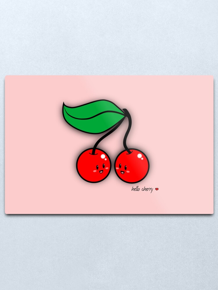 Alternate view of Hello Cherry - two lof bees Metal Print