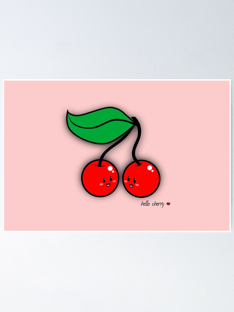 Alternate view of Hello Cherry - two lof bees Poster