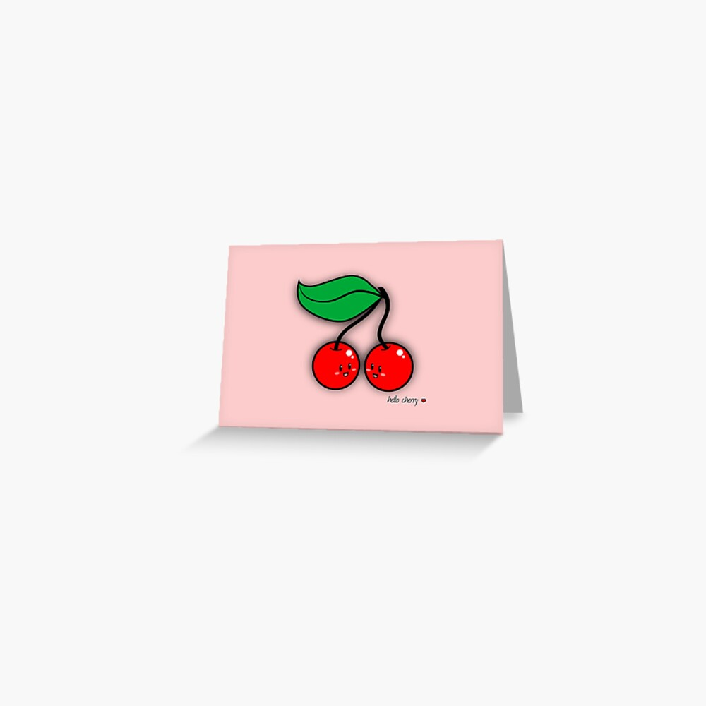 Hello Cherry - two lof bees Greeting Card