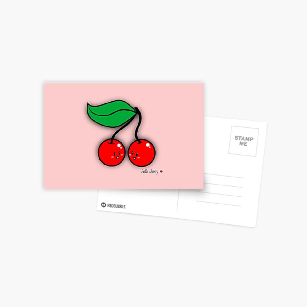 Hello Cherry - two lof bees Postcard