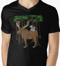 Moose & Squirrell Mens V-Neck T-Shirt