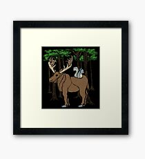 Moose & Squirrell Framed Print