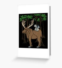 Moose & Squirrell Greeting Card