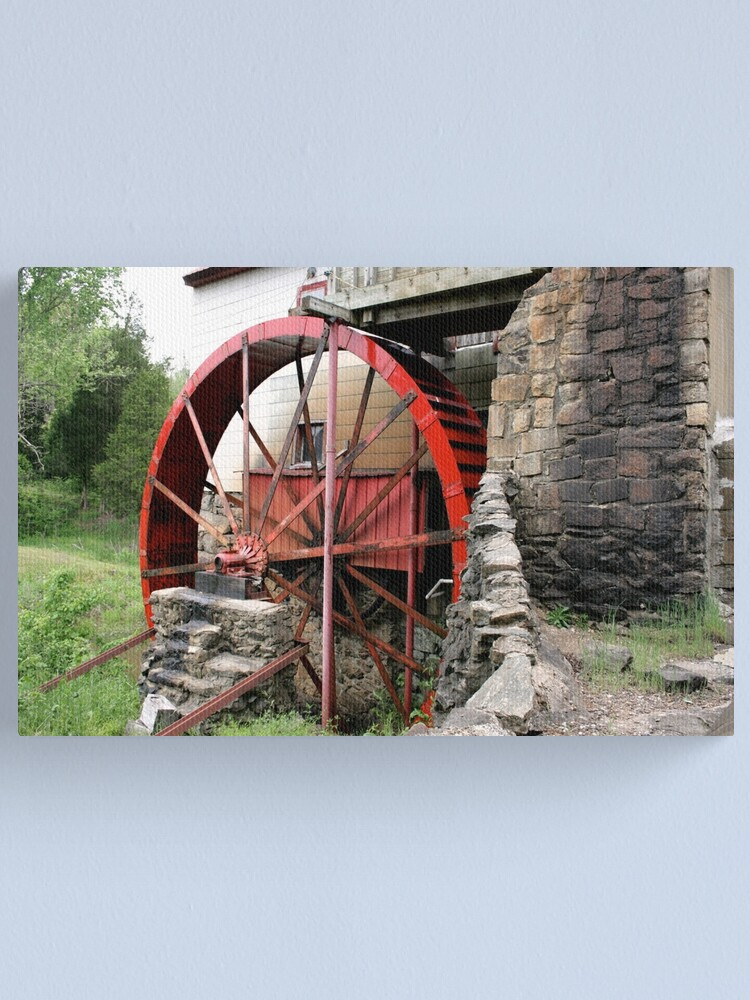 Alternate view of Red Old Mill Wheel Canvas Print