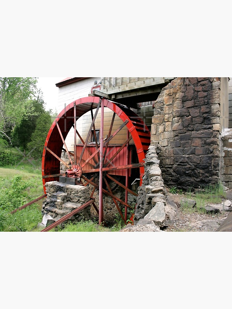 Red Old Mill Wheel by ArtMystSoul