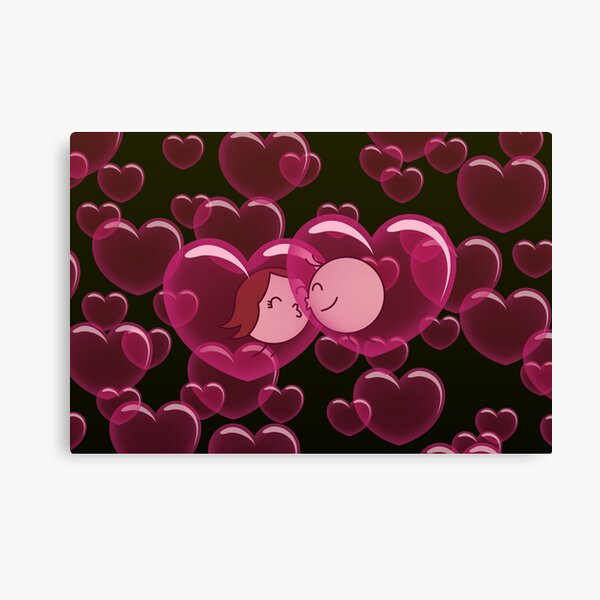 Heart Bubbles - two lof bees Canvas Print