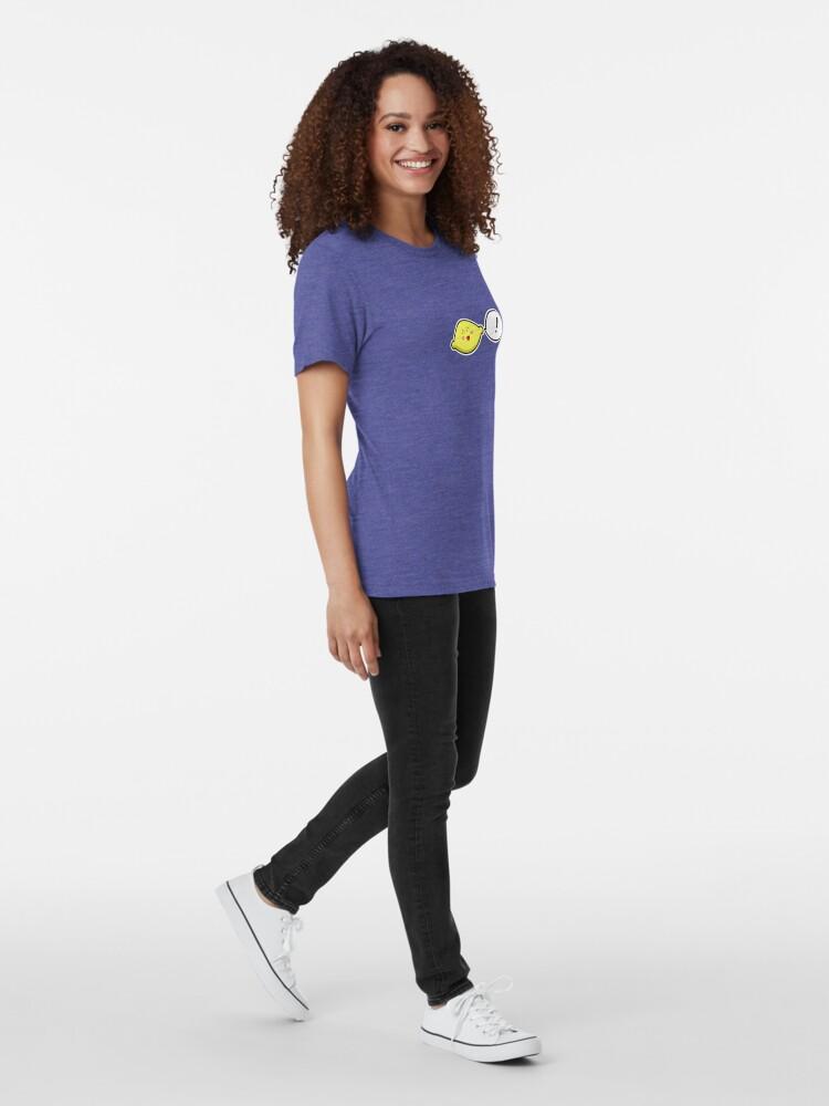 Alternate view of Happy Lemon - two lof bees Tri-blend T-Shirt