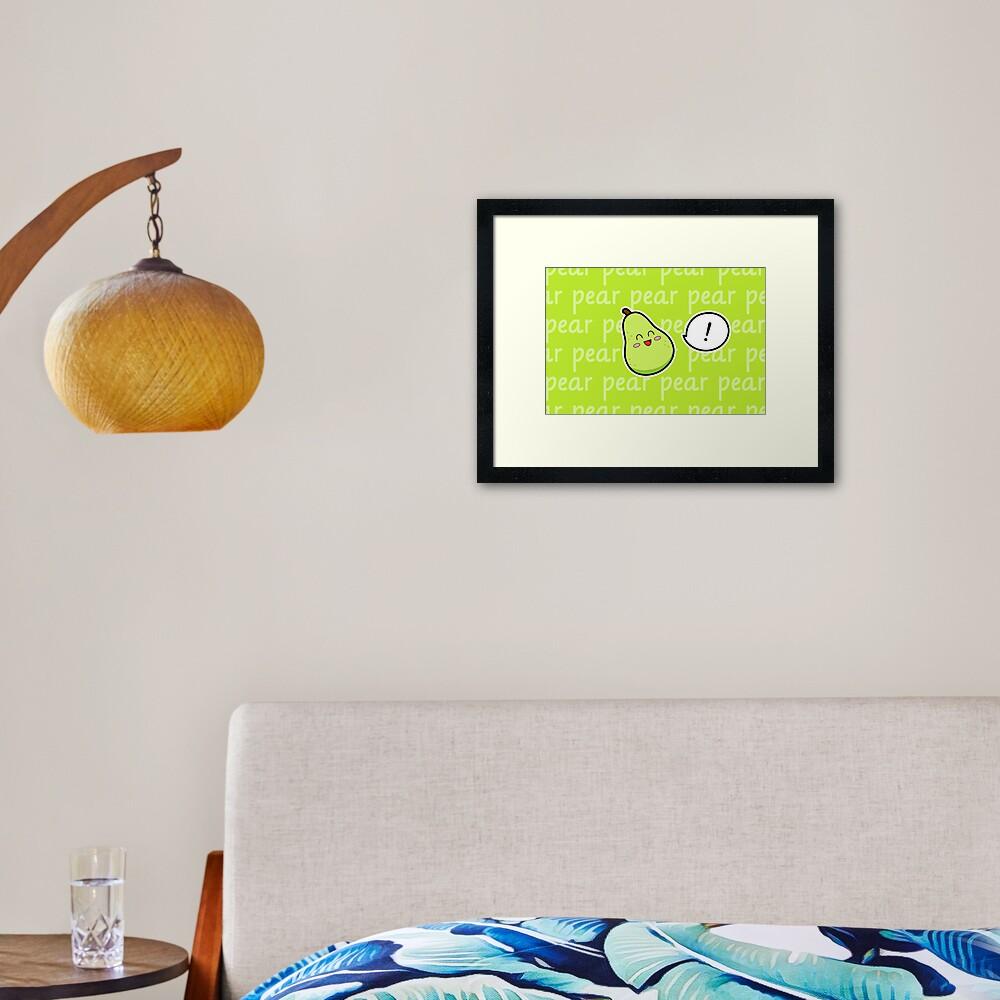 Happy Pear - two lof bees Framed Art Print