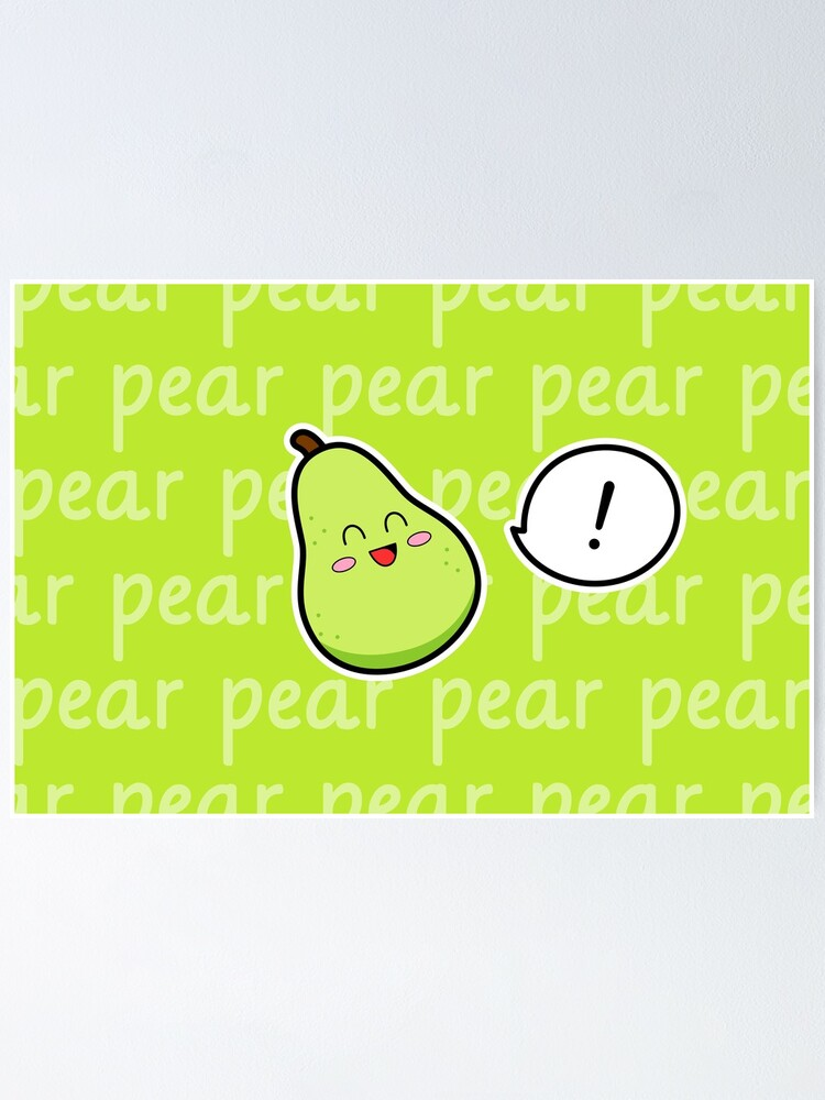 Alternate view of Happy Pear - two lof bees Poster