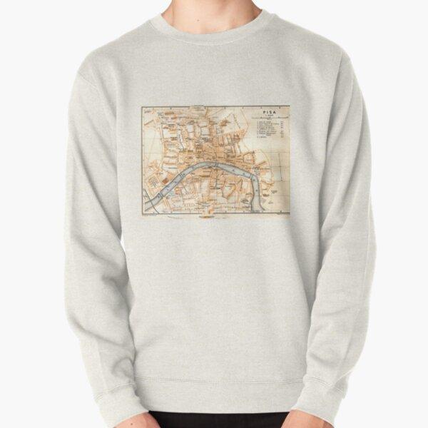Vintage Map of Pisa Italy (1913) Pullover Sweatshirt