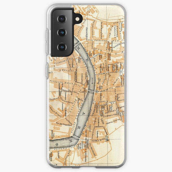 Vintage Map of Pisa Italy (1913) Samsung Galaxy Soft Case