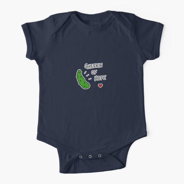 Gherkin Of Hope - two lof bees Short Sleeve Baby One-Piece