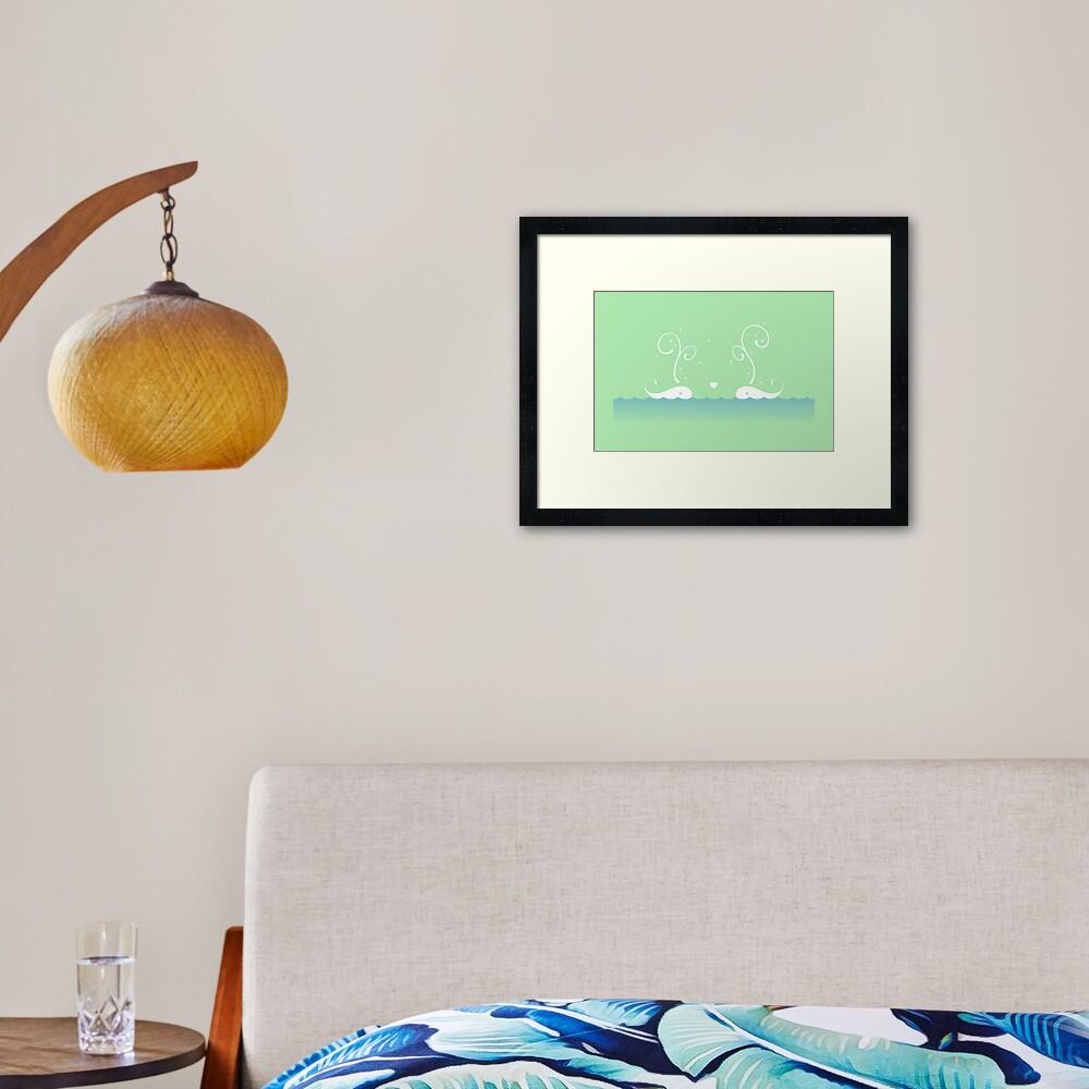 White Whales Framed Art Print