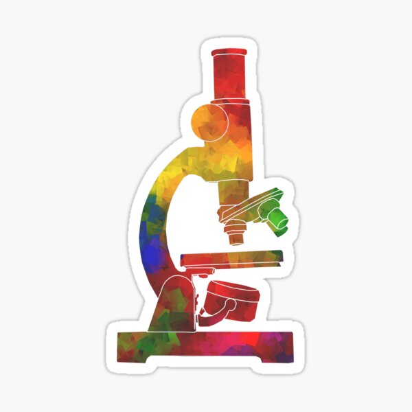 Rainbow Microscope Sticker